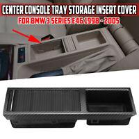 Per BMW E46 Carbonio Fibra Stile Consolle Centrale Contenitore Vassoio Insert