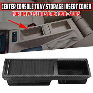 Pour BMW E46 Carbone Fibre Aspect Console Centrale Rangement Bac Insert + À