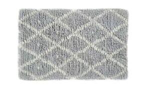 80 x 130cm Large Habitat Berber Handwoven Wool Light Grey Rug Carpet Runner