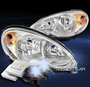 FOR 2006-2010 CHRYSLER PT CRUISER REPLACEMENT HEADLIGHT LAMP CHROME W/8K HID KIT