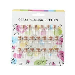 20  Hohlkugeln 16x22 mm FLASCHEN Glasperlen farblos  Vintage R29