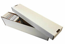 10 -  800ct 2pc Cardboard Vertical Baseball Trading Card Storage Boxes Max #802