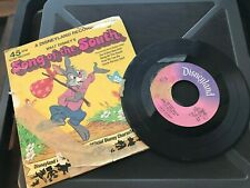 45 rpm A Disneyland record Song Of The South Walt Disney