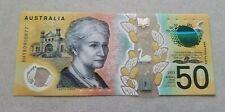 New Design $50 Crisp Collector Grade Australian Note With Spelling Error
