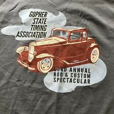 Gopher State Timing Assoc Size M T-SHIRT Minnesota Car Show Club Drag Racing
