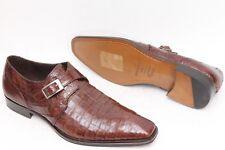 Mezlan 'Gables' Brown Leather Crocodile Monk Strap Men's Shoes Size 11 M
