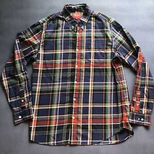 Supreme 2011 plaid tartan button down shirt navy large