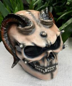 Devils Goat Demon Goat Monster DOT Helmet Devil Satan 3D Horn Hell damon