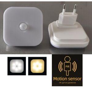 LED PIR Motion Sensor Wall Light Bathroom Bedside Staircase Hallway Lamp