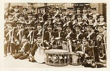 Gillingham Kent Salvation Army Band 1911 at Nunhead Southwark unused RP old pc