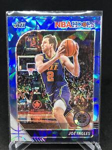 2019-2020 NBA Hoops Premium Stock Joe Ingles Blue Cracked Ice Prizm Utah Jazz