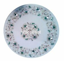White Marble Round Center Table Top Abalone Mosaic Eid Exclusive Outdoor Decor