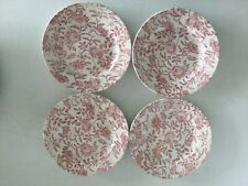 4 Churchill Pink PEONY Salad Plate s  Made in England 8 1/8""
