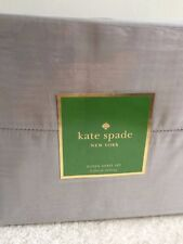 New! Kate Spade 4 Piece Queen Sheet Set-Holbrook Sheeting-Dark Gray-100% Cotton
