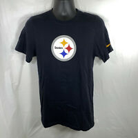 Nike Pittsburgh Steelers Logo NFL Apparel T-Shirt ~ Black ~ Unisex Small Tee