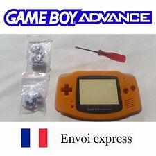 Coque GAME BOY ADVANCE orange NEUF NEW + tournevis - étui shell case GBA