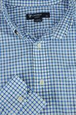 Daniel Cremieux Hombre Azul & Blanco de Cuadros Algodón Camisa Informal L GRANDE