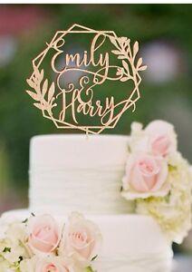 Personalized Name Wedding Cake Topper Custom Wedding Cake Topper