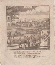 Teplice Töplitz Orig. Kupferstich 1830 Zittauisches Tagebuch Wappen Rädler