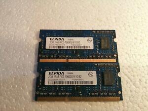 Elpida 4GB (2x2Gb) PC3-10600S 1333MHz So-Dimm Laptop Memory EBJ20UF8BCS0-DJ-F