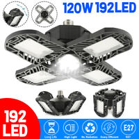 120W/100W 12000LM LED Garage Lights Shop Ceiling Work Home Light Deformable E27