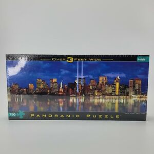 New York Panoramic 750 Pc 3 Ft Puzzle Tribute In Light City Memorial NEW SEALED