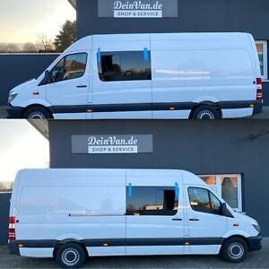 Mercedes Sprinter VW Crafter  Seitenscheibe Schiebefenster Montagekit DeinVan.de