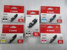 TOP 5er XL-Set original Canon Tinten PGI-550XL CLI-551XL Pixma OVP Rechnung