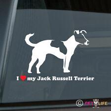 I Love My Jack Russel Terrier Sticker Die Cut Vinyl - profile jrt parson v2