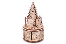 Wood Trick Christmas Dance Music Box Mechanical Wooden 3D Puzzle DIY Kit Gift