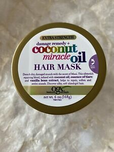 OGX Organic Coconut Miracle Oil Hair Mask, Extra Strength Damage & Remedy 168g