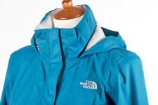 Womens THE NORTH FACE RESOLVE Jacket M in Teal Blue Nylon Shell Rainwear