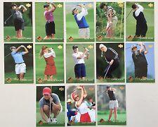 Upper Deck Golf 13 Card Set Lot ALL LPGA Rookie Card Kerr Sorenstam Ochoa Gulbis