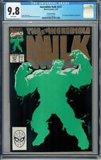 Incredible Hulk # 377 CGC 9.8 Iconic Cover HTF 2nd Print Gold Marvel 1991