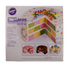 Wilton Checkerboard Cake Pan Tin Set