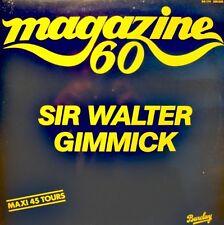 MAGAZINE 60 sir walter gimmick/melodie du desert MAXI PROMO 1982 BARCLAY EX++