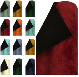 PLUSH VELVET FABRIC FAUX SUEDE DRESSMAKING UPHOLSTERY CURTAIN SOFT MATERIAL