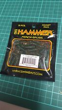 "Big Hammer 1.75"" Perch Grub - Magic Bug/Blue Pearl/Motor Oil 25pcs pocket pack"