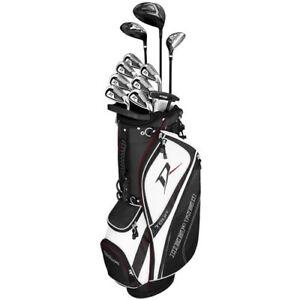 New Wilson Deep Red Tour Mens Golf Package Set Graphite Senior Flex I231