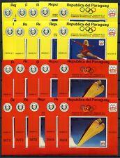 10x PARAGUAY 1975 Olympiade Olympics Innsbruck Block 252-253 10x ** KW €430
