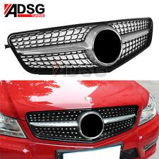 Diamond grille for Mercedes W204 C Class C200 C220 C250 C350 grills 2008-2014 US