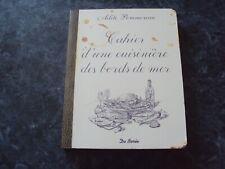 recettes  CAHIER D'UNE CUISINIERE DES BORDS DE MER - Adèle POMMEREAU