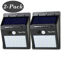 Outdoor Solar Lights Motion Sensor Wall Light Waterproof Garden Yard 20 LED 2PCS