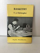 Vintage Craft Book Basketry Foyles Handbooks Series Christopher Basket Weaving