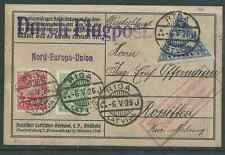 LATVIA RUSSIA 1925 FIRST FLIGHT RIGA SEE BOTH SCANS SELDOM SEEN