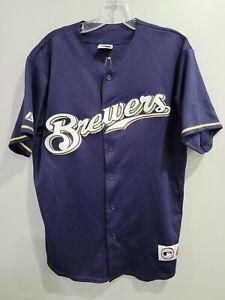 VTG Majestic MLB Milwaukee Brewers Ryan Braun 8 Baseball Jersey Mens L USA