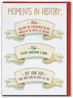 Moments In History Birthday Card Isolation Post Lockdown Funny Humour Comedy