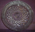 """LARGE VINTAGE BRILLIANT CLEAR GLASS ASHTRAY 8.5"""" W R"""
