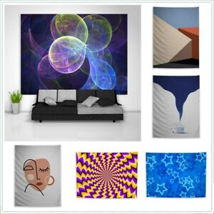 Abstract Trippy Hippie  Tapestry Wall Hanging Mandala Indian Decor Poster