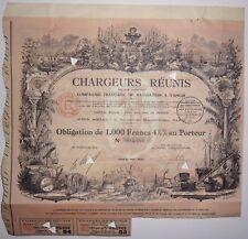 Cargadores Juntos Compañía Francesa de navegación vapor 1930 action 1000 frs5483
